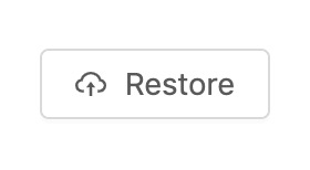 Preview of restore button